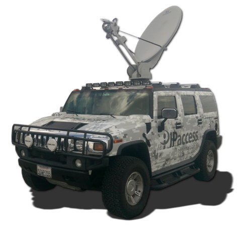 IP Access Hummer Mobile VSAT Auto-Acquire Antenna
