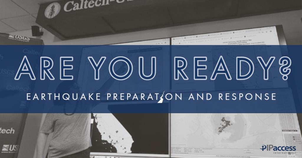 Earthquake prep and response