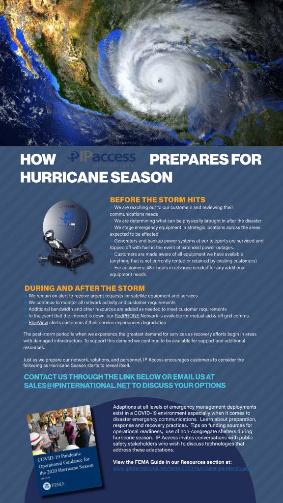 IP Access Hurricane Prep Covid-19 Response